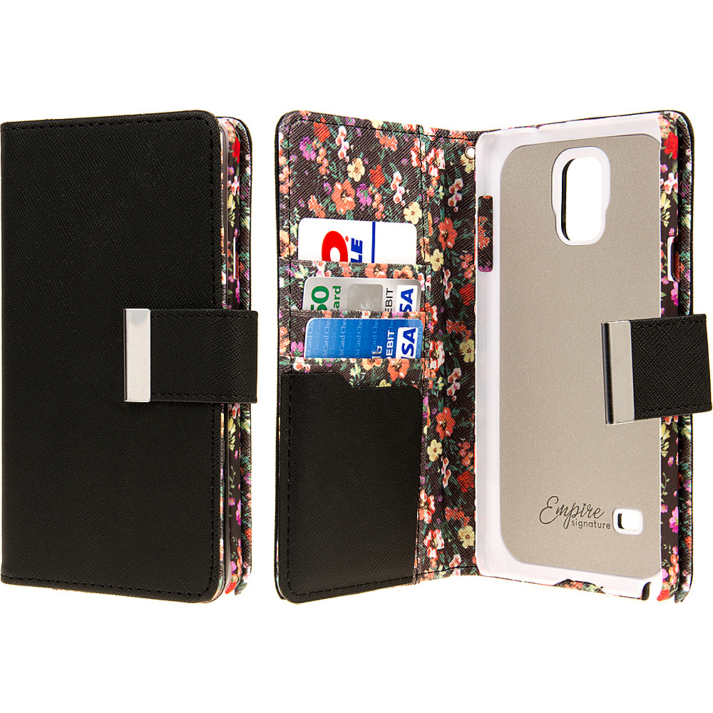 EMPIRE KLIX Klutch Designer Wallet Case Samsung Galaxy Note 4 Vintage Floral EMPIRE Electronic Cases