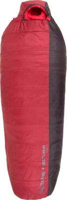 Big Agnes Encampment 15 Insotect Hot Stream Sleeping Bag Crimson/Coffee - Long Right - Big Agnes Outdoor Accessories