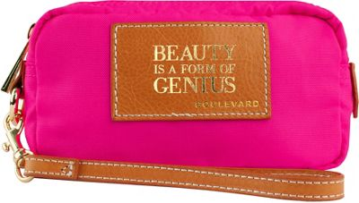 Boulevard Boulevard Beauty is a Form of Genius Cosmic Alpha Makeup Bag Neon Pink - Boulevard Women's SLG Other