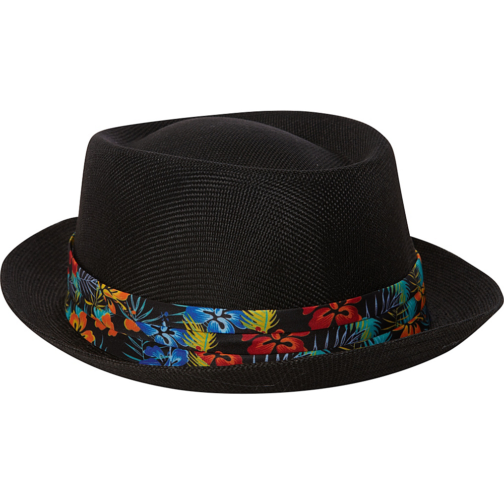 Caribbean Joe Accessories Maui Blossom Hat Black - Caribbean Joe Accessories Hats