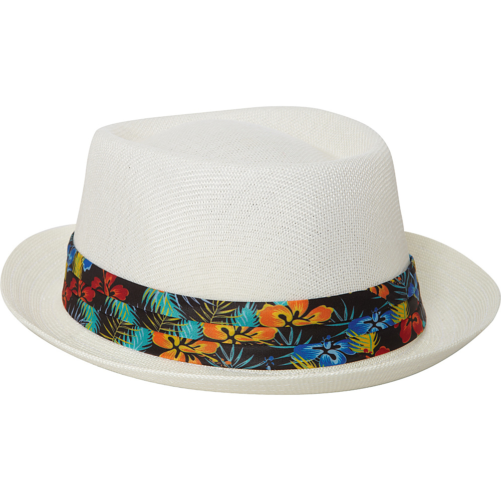 Caribbean Joe Accessories Maui Blossom Hat White - Caribbean Joe Accessories Hats