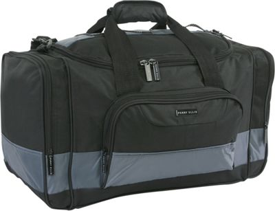Perry Ellis Business Duffel Bag - Medium Black/Grey - Perry Ellis Travel Duffels