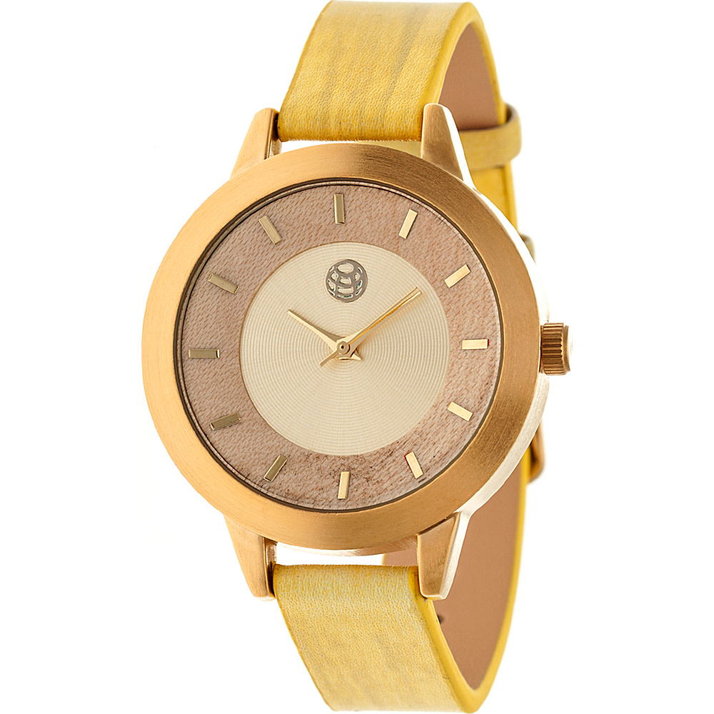 Earth Wood Autumn Strap Women s Watch Yellow Earth Wood Watches