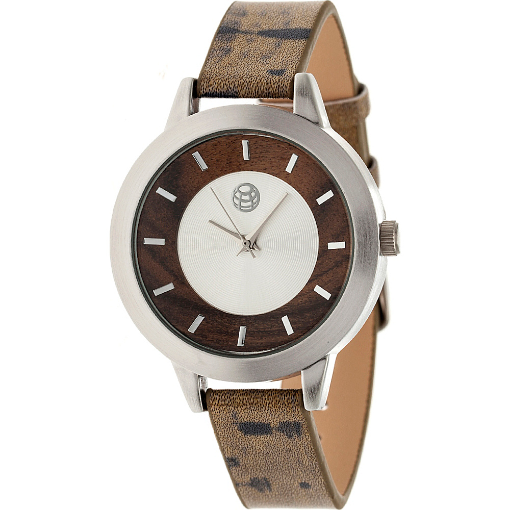 Earth Wood Autumn Strap Women s Watch Dark Brown Earth Wood Watches