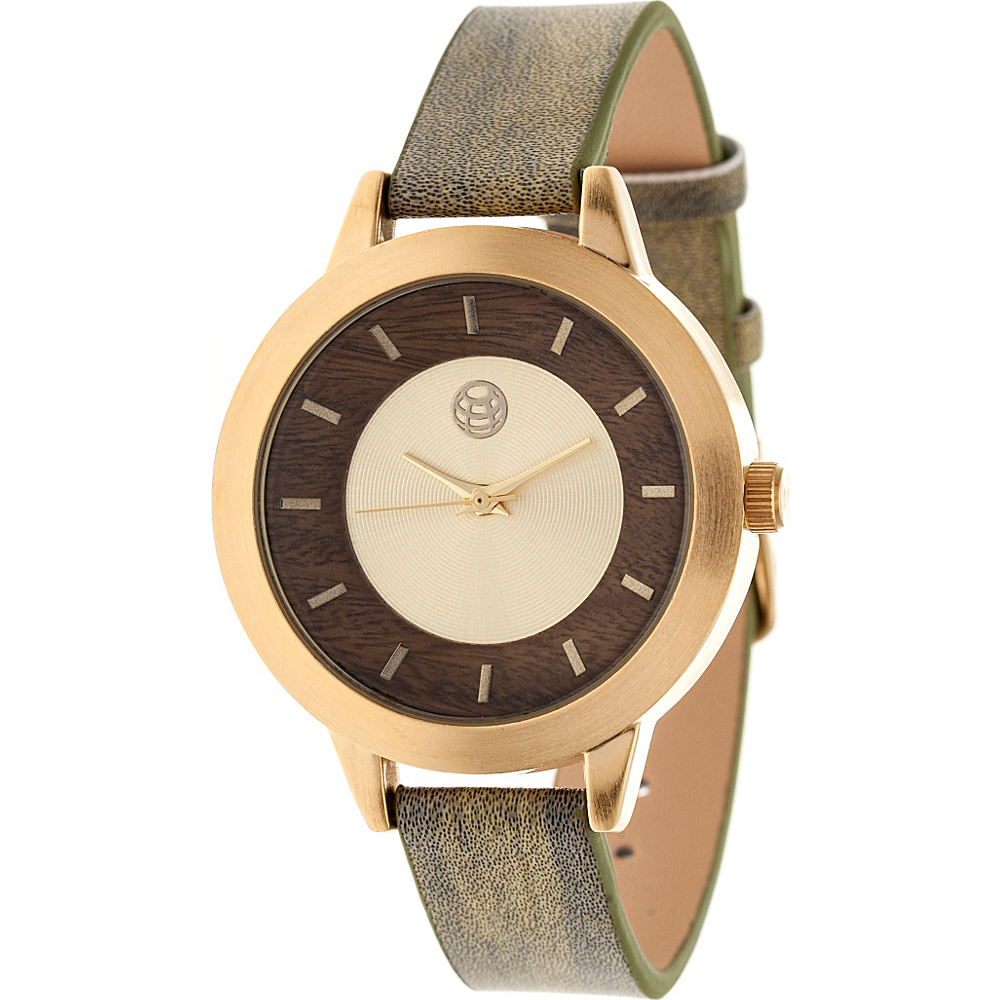 Earth Wood Autumn Strap Women s Watch Olive Earth Wood Watches