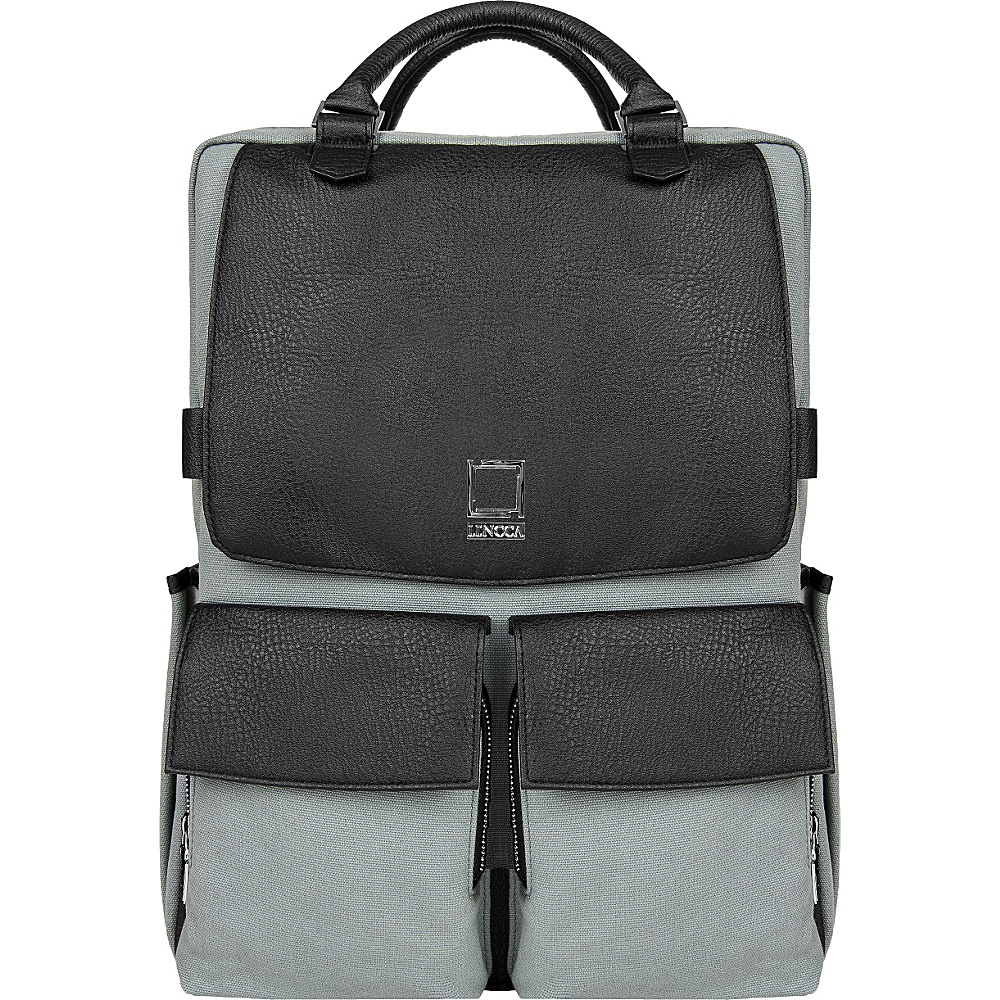 Lencca Novo Laptop Traveler s Backpack Gray Black Lencca Business Laptop Backpacks