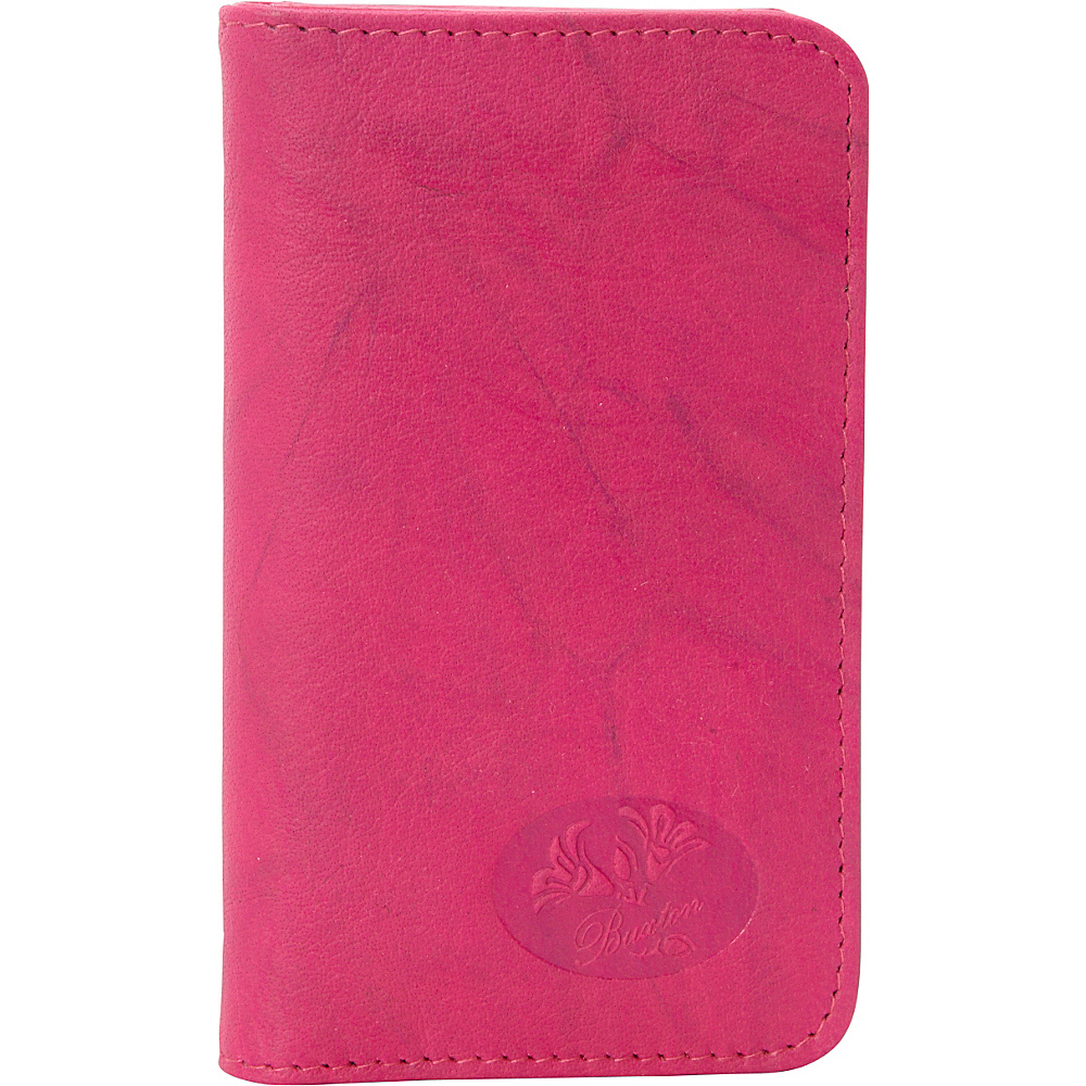 Buxton Heiress  Pik-Me-Up Snap Card Case Fuchsia Pink - Buxton Womens Wallets - Women's SLG, Women's Wallets