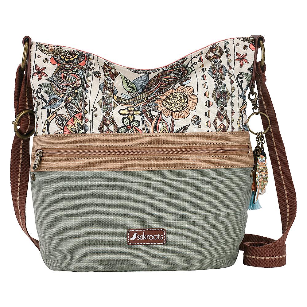 Sakroots Artist Circle Soft Bucket Cream Spirit Desert - Sakroots Fabric Handbags - Handbags, Fabric Handbags