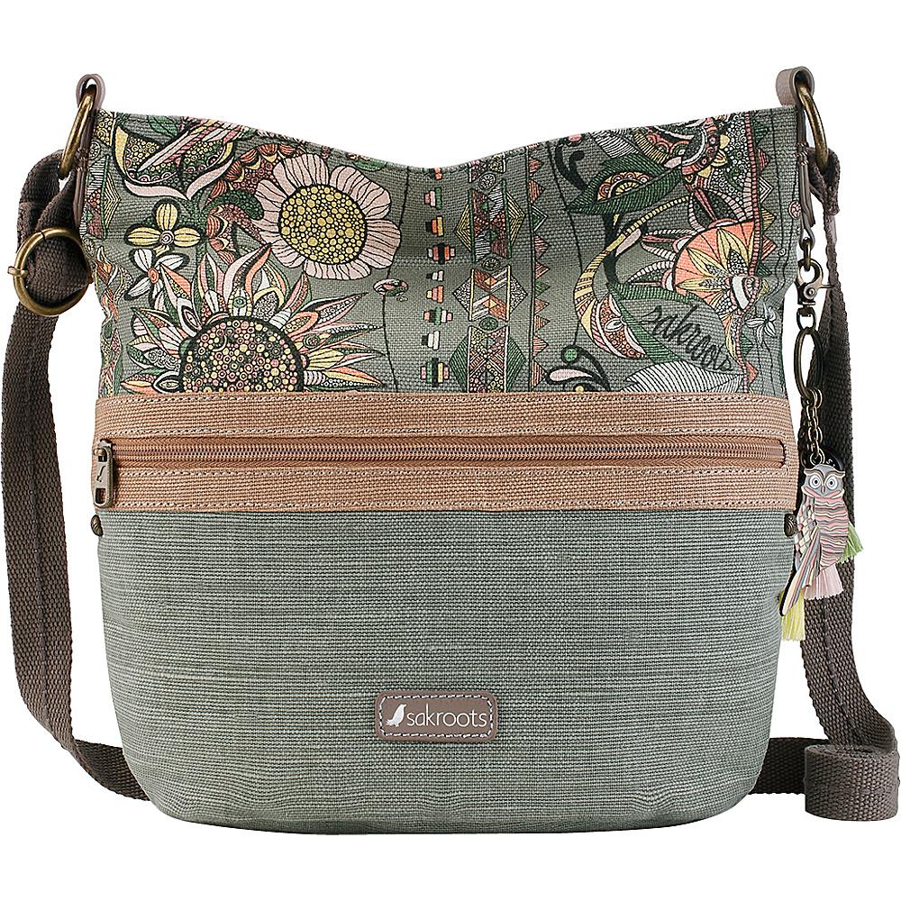 Sakroots Artist Circle Soft Bucket Olive Spirit Desert - Sakroots Fabric Handbags - Handbags, Fabric Handbags