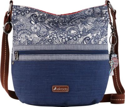 Sakroots Artist Circle Soft Bucket Navy Spirit Desert - Sakroots Fabric Handbags