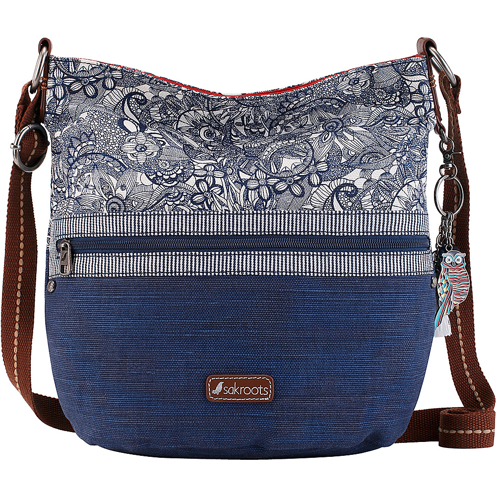 Sakroots Artist Circle Soft Bucket Navy Spirit Desert - Sakroots Fabric Handbags - Handbags, Fabric Handbags