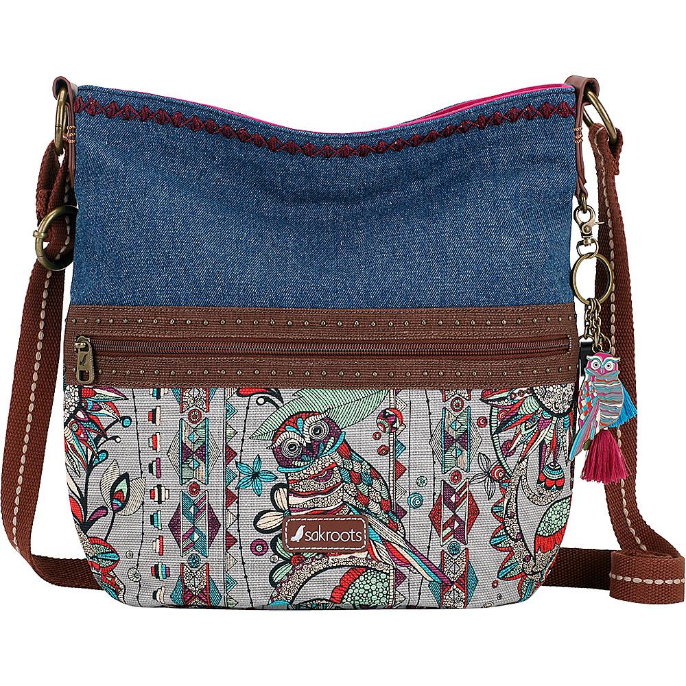 Sakroots Artist Circle Soft Bucket Charcoal Spirit Desert - Sakroots Fabric Handbags - Handbags, Fabric Handbags