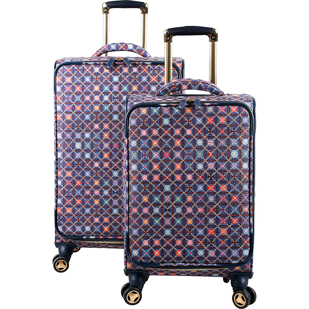 J World New York Bella Collaboration 2 Piece Luggage Set Flower Seeds - J World New York Luggage Sets - Luggage, Luggage Sets