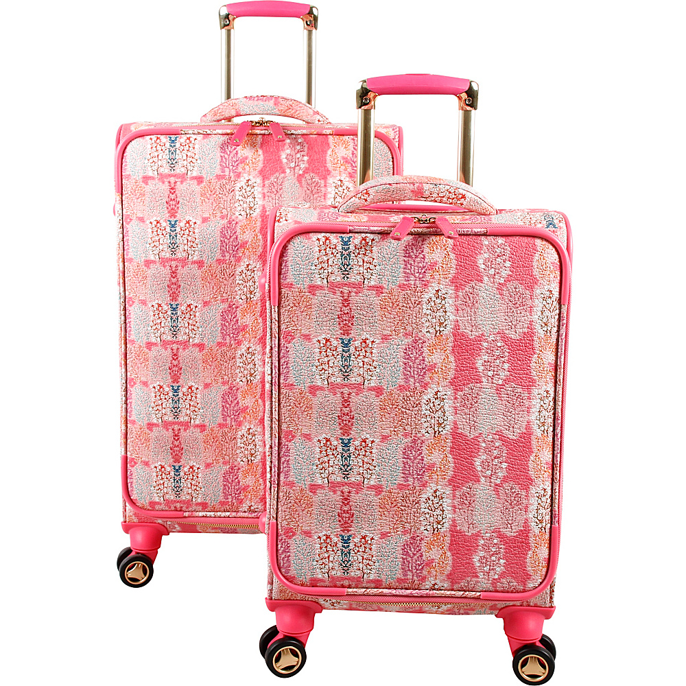 J World New York Bella Collaboration 2 Piece Luggage Set Pink Forest - J World New York Luggage Sets - Luggage, Luggage Sets