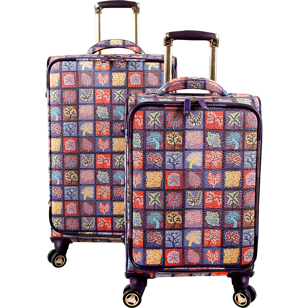 J World New York Bella Collaboration 2 Piece Luggage Set Seasons - J World New York Luggage Sets - Luggage, Luggage Sets