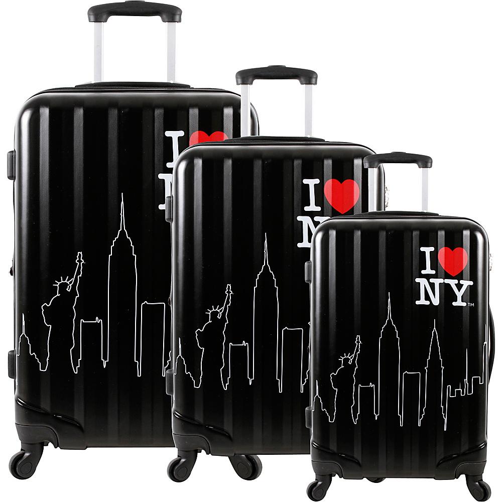 J World New York ILNY Cityscape 3 Piece Luggage Set Black - J World New York Luggage Sets - Luggage, Luggage Sets