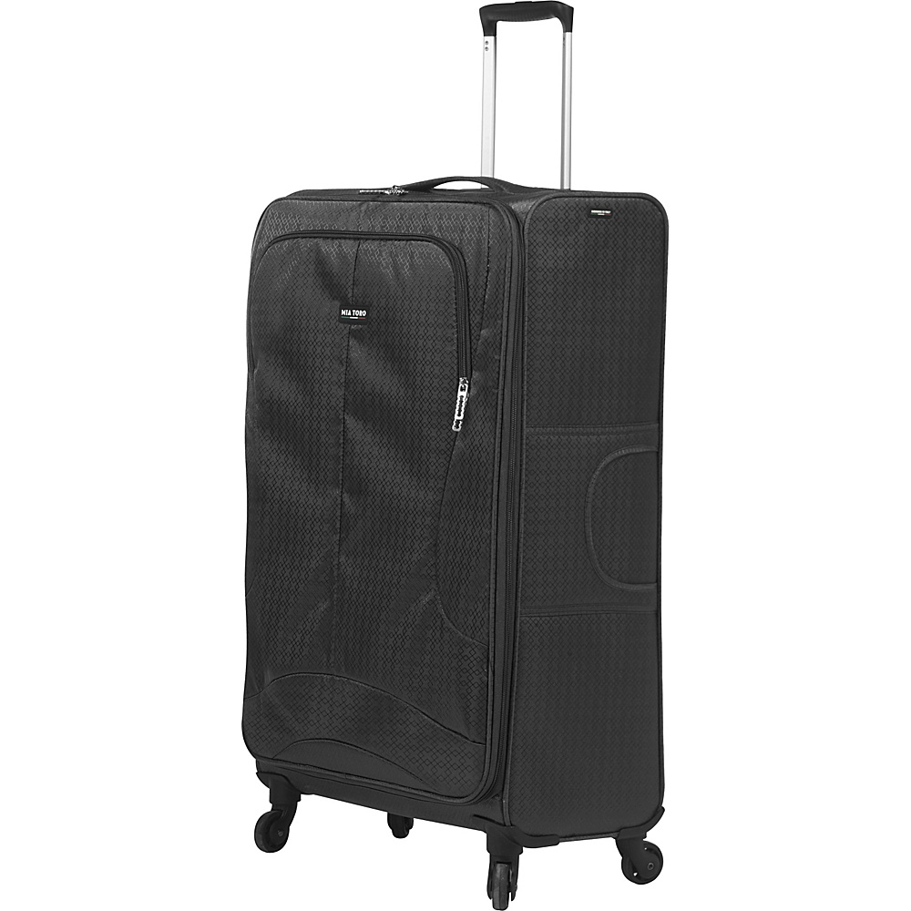 Mia Toro ITALY Apennine 24 Luggage Black Mia Toro ITALY Softside Checked