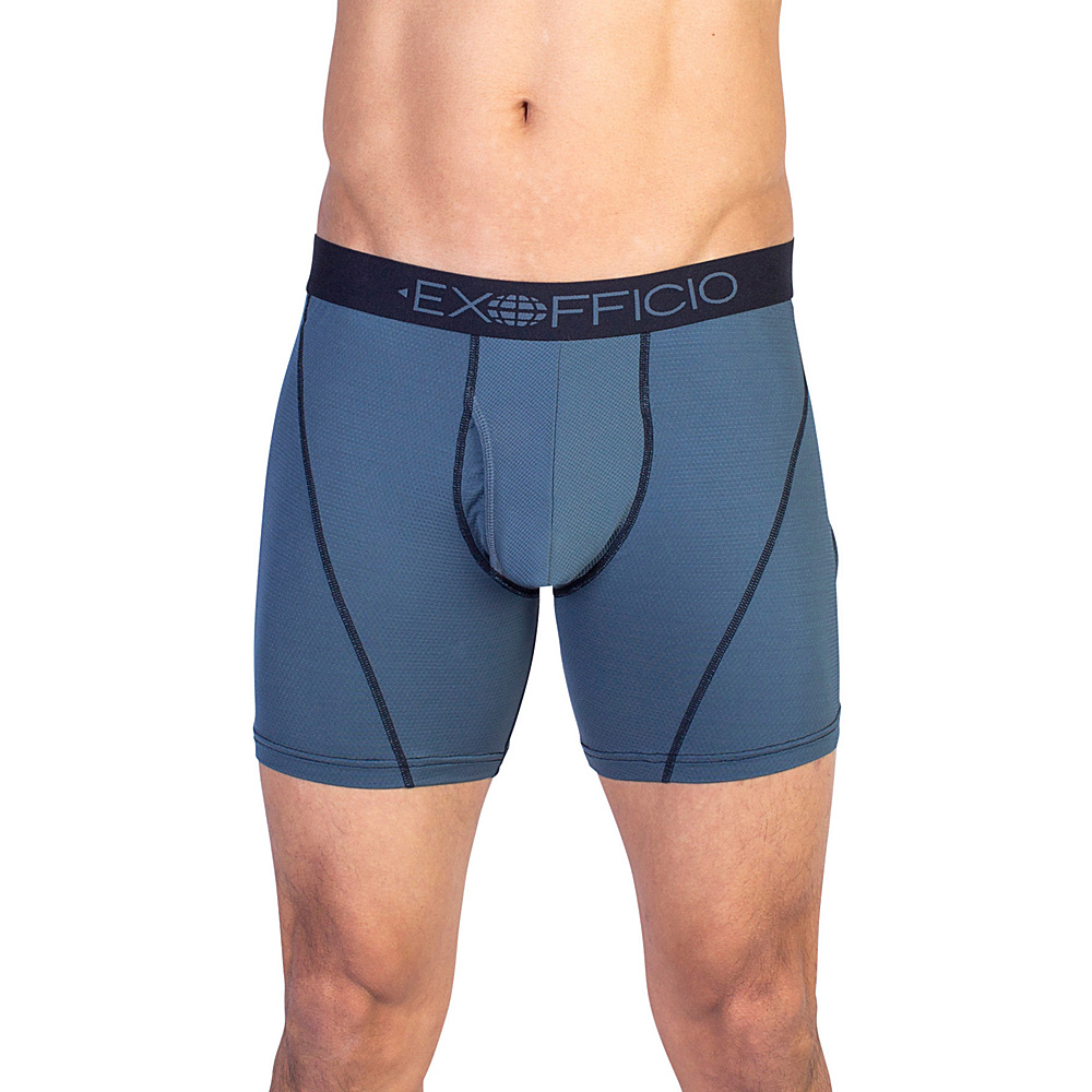 ExOfficio Give-N-Go Sport Mesh 6 Boxer Brief 2XL - Phantom - ExOfficio Mens Apparel - Apparel & Footwear, Men's Apparel