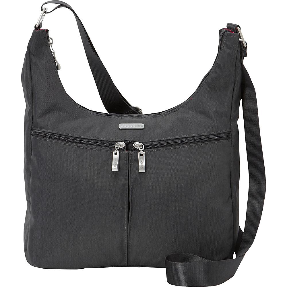 baggallini Harmony Large Hobo- Exclusive Charcoal - baggallini Fabric Handbags - Handbags, Fabric Handbags