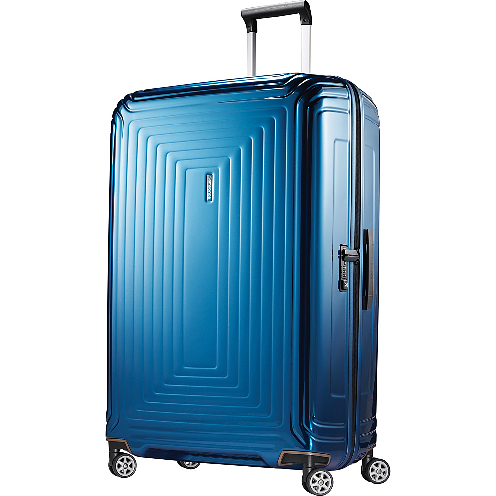 Samsonite Neopulse Hardside Spinner 30 Metallic Blue Samsonite Hardside Checked