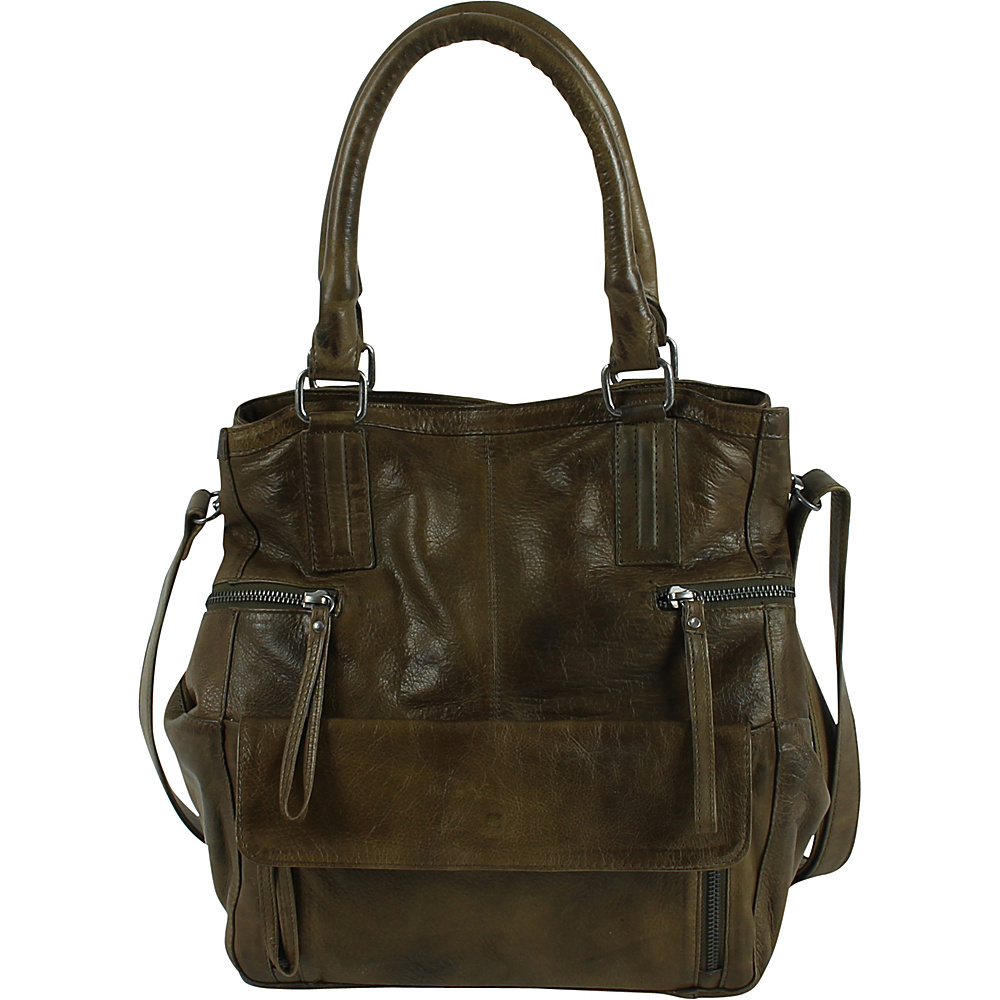 Day & Mood Hannah Small Tote Olive - Day & Mood Leather Handbags