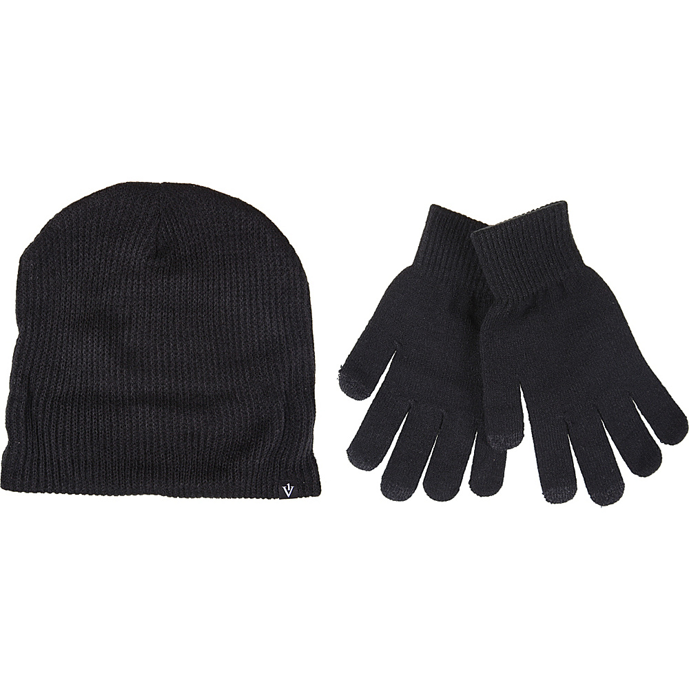 1Voice Touch Screen Gloves With Matching Beanie Black 1Voice Hats Gloves Scarves