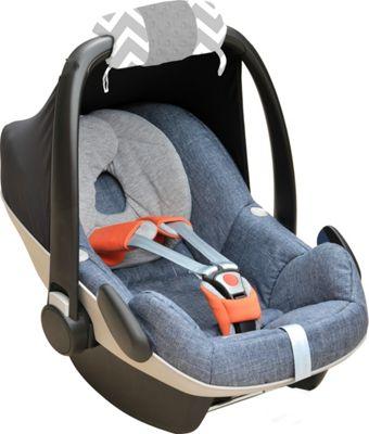 Itzy Ritzy Ritzy Wrap Infant Car Seat Handle Cushion C. Grey Chevron - Itzy Ritzy Diaper Bags & Accessories