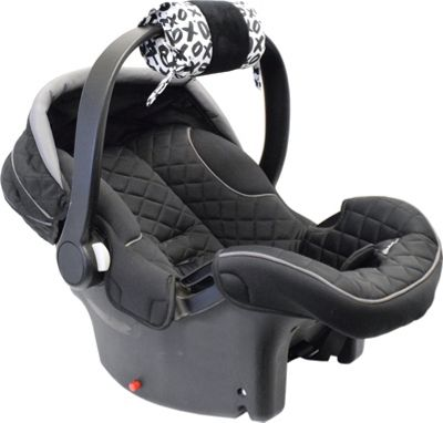 Itzy Ritzy Ritzy Wrap Infant Car Seat Handle Cushion XOXO with Black Minky Dot - Itzy Ritzy Diaper Bags & Accessories