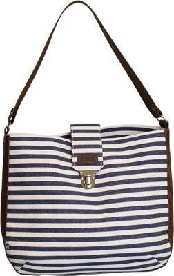 Sloane Ranger Shoulder Bag Denim Stripe - Sloane Ranger Fabric Handbags