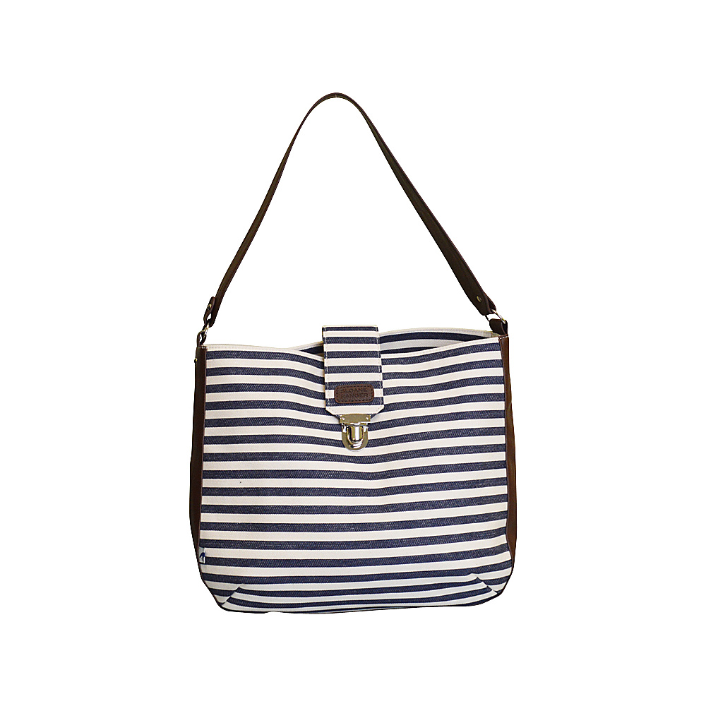 Sloane Ranger Shoulder Bag Denim Stripe Sloane Ranger Fabric Handbags
