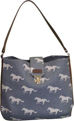 Sloane Ranger Shoulder Bag Grey Horse - Sloane Ranger Fabric Handbags