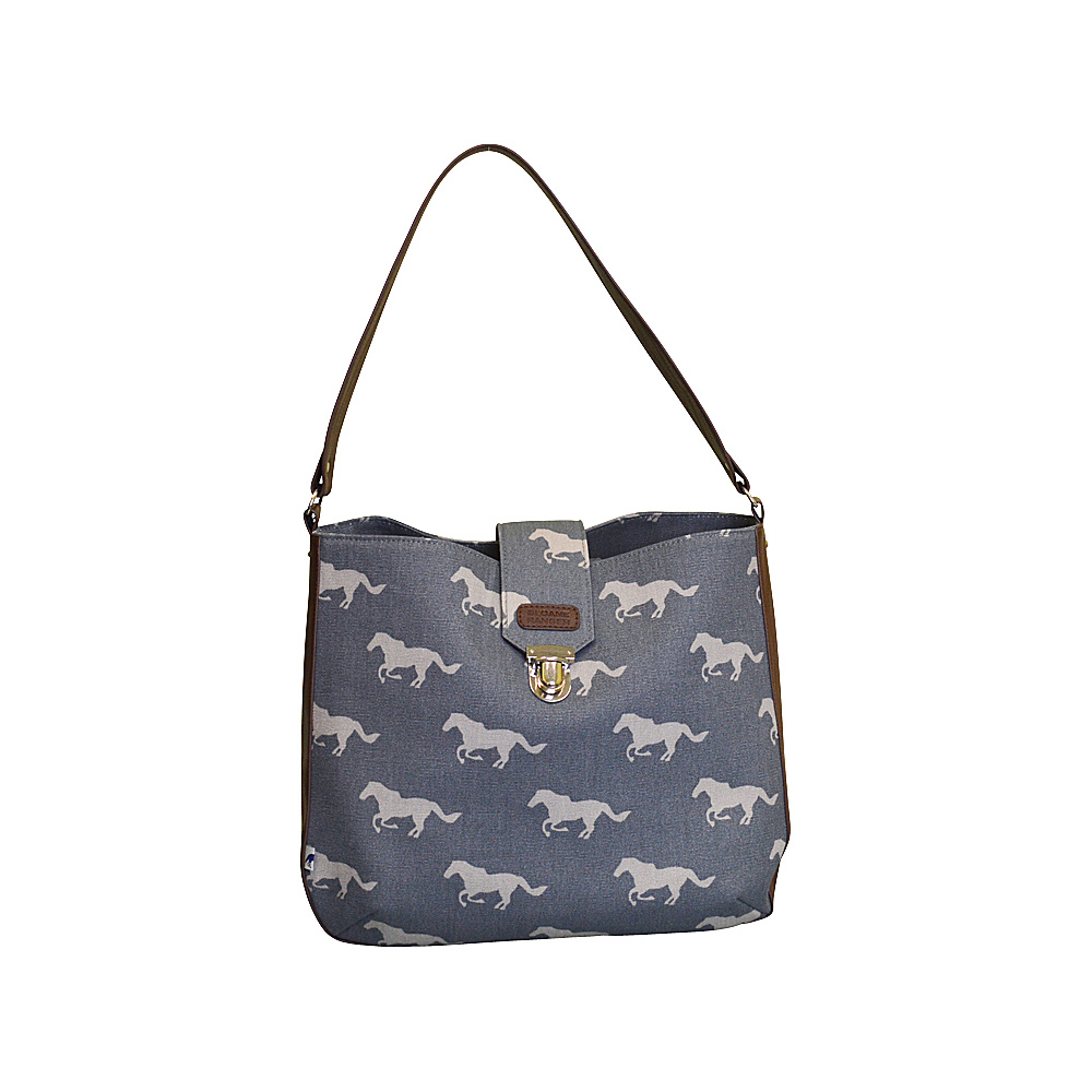 Sloane Ranger Shoulder Bag Grey Horse Sloane Ranger Fabric Handbags
