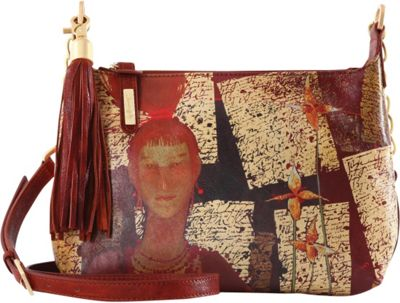 Icon Shoes Small Crossbody with Tassel Russian Red - Icon Shoes Leather Handbags