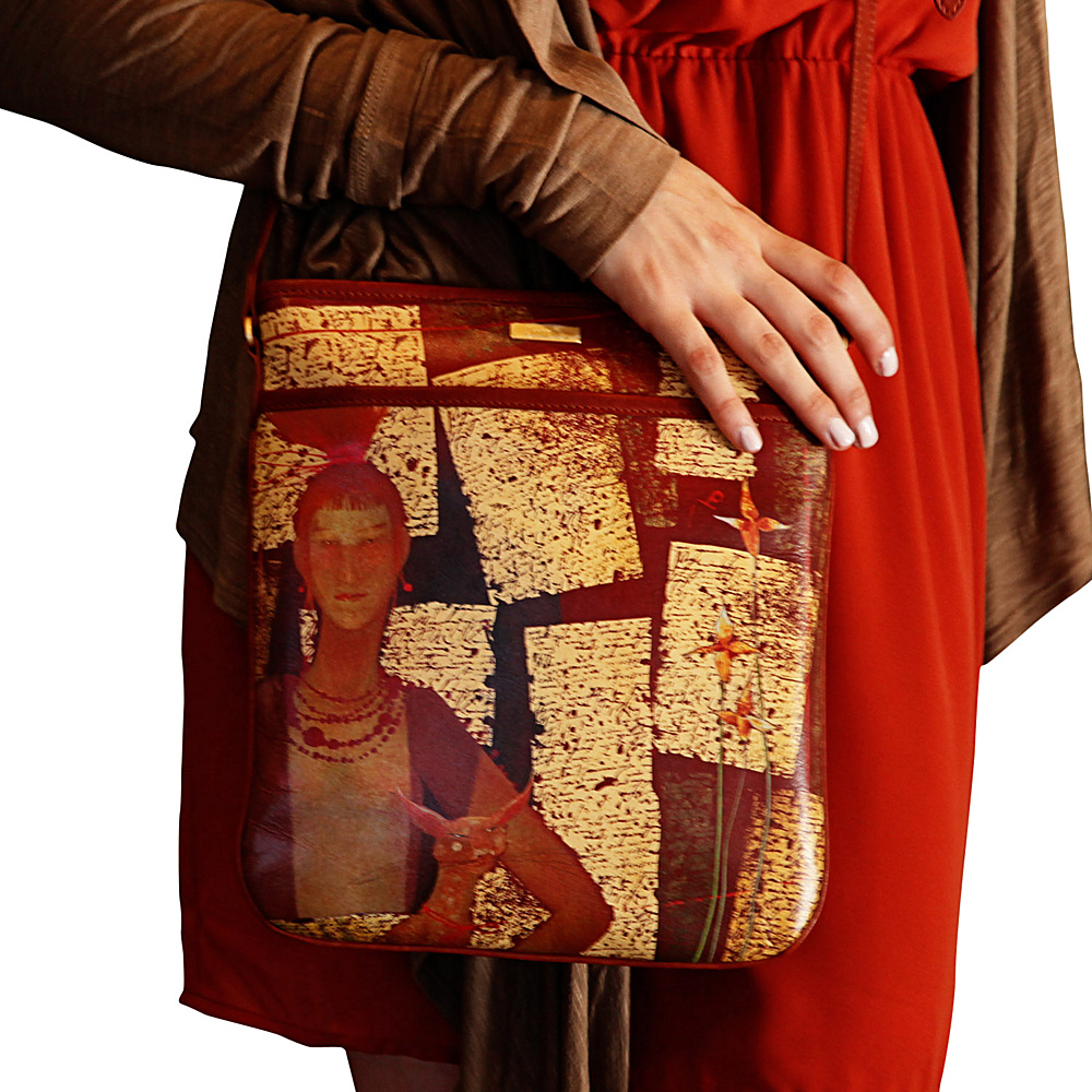 Icon Shoes North South iPad Messenger Bag Russian Red - Icon Shoes Leather Handbags