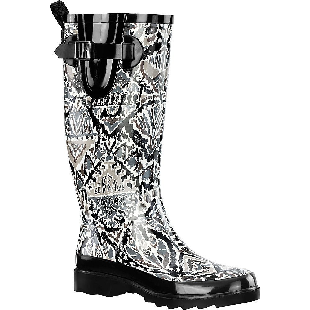 Sakroots Rhythm Rain Boot 5 - M (Regular/Medium) - Jet Brave Beauti - Sakroots Womens Footwear - Apparel & Footwear, Women's Footwear