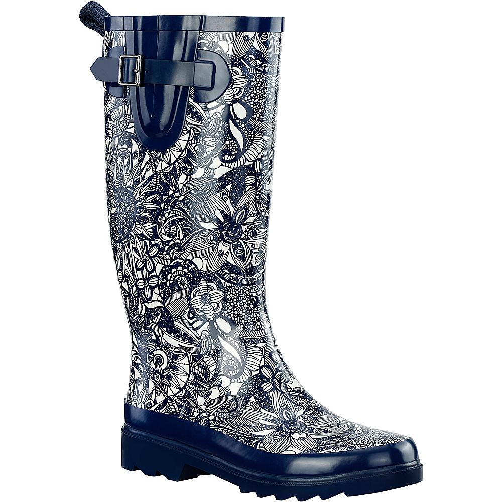 Sakroots Rhythm Rain Boot 6 - M (Regular/Medium) - Navy Spirit Desert - Sakroots Womens Footwear - Apparel & Footwear, Women's Footwear