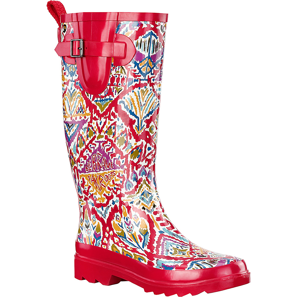 Sakroots Rhythm Rain Boot 6 - M (Regular/Medium) - Sweet Red Brave Beauti - Sakroots Womens Footwear - Apparel & Footwear, Women's Footwear