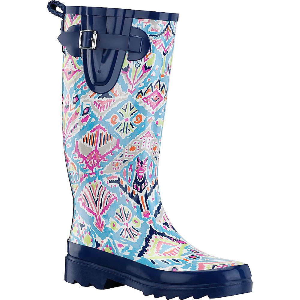Sakroots Rhythm Rain Boot 6 - Aqua Brave Beauti - Sakroots Womens Footwear - Apparel & Footwear, Women's Footwear