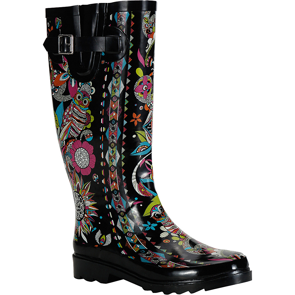 Sakroots Rhythm Rain Boot 5 M Regular Medium Neon Spirit Desert Sakroots Women s Footwear