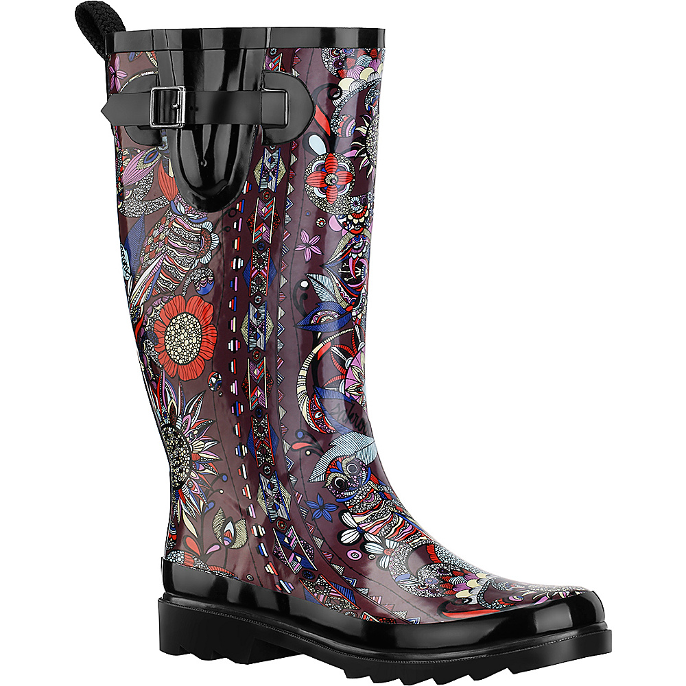 Sakroots Rhythm Rain Boot 8 M Regular Medium Sterling Spirit Desert Sakroots Women s Footwear