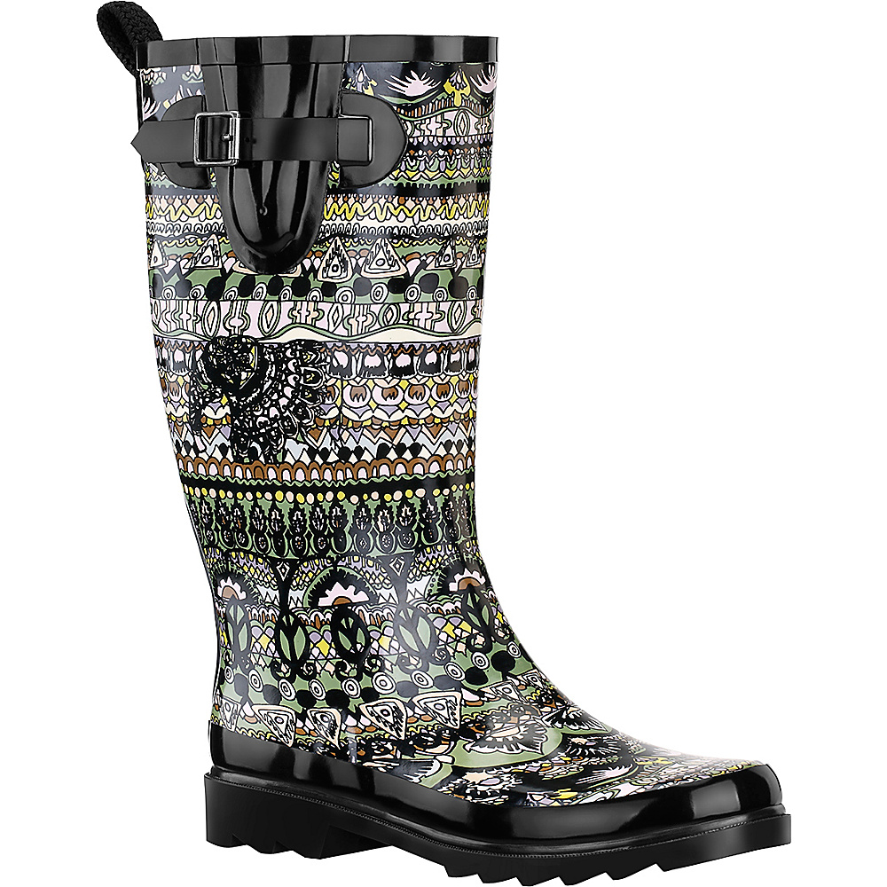 Sakroots Rhythm Rain Boot 9 M Regular Medium Sterling Spirit Desert Sakroots Women s Footwear