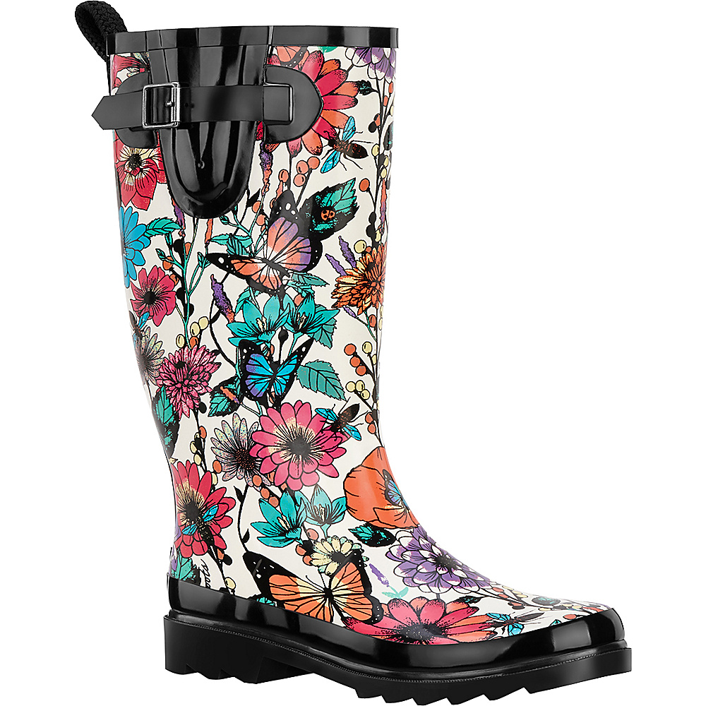 Sakroots Rhythm Rain Boot 7 - Optic In Bloom - Sakroots Womens Footwear - Apparel & Footwear, Women's Footwear