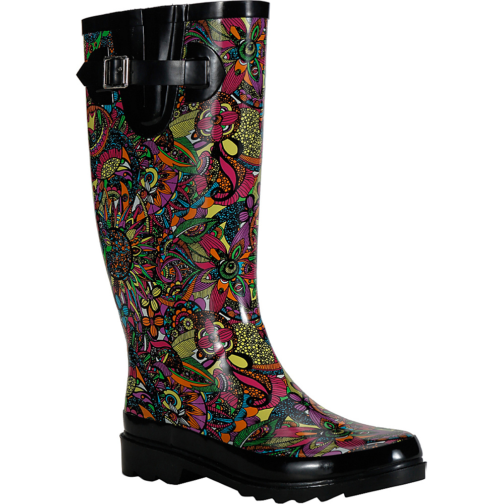 Sakroots Rhythm Rain Boot 6 M Regular Medium Rainbow Spirit Desert Sakroots Women s Footwear