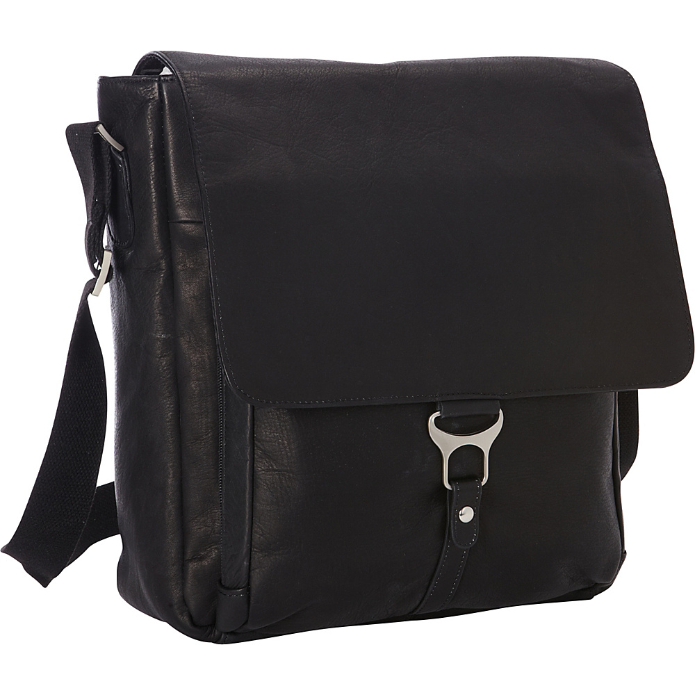 Goodhope Bags Leather Vertical Laptop Messenger Black Goodhope Bags Messenger Bags