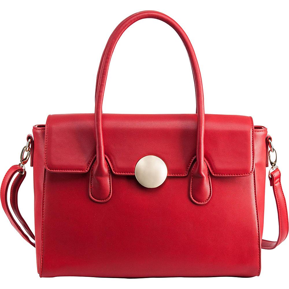 Ann Creek Women s Romano Satchel Bag Red Ann Creek Manmade Handbags