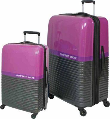 Geoffrey Beene Luggage Ultra Lightweight 2 Piece Hardside Set Purple - Geoffrey Beene Luggage Luggage Sets