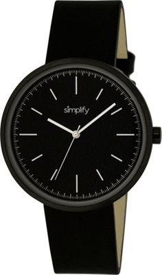 Simplify 3000 Unisex Watch Black/Black - Simplify Watches