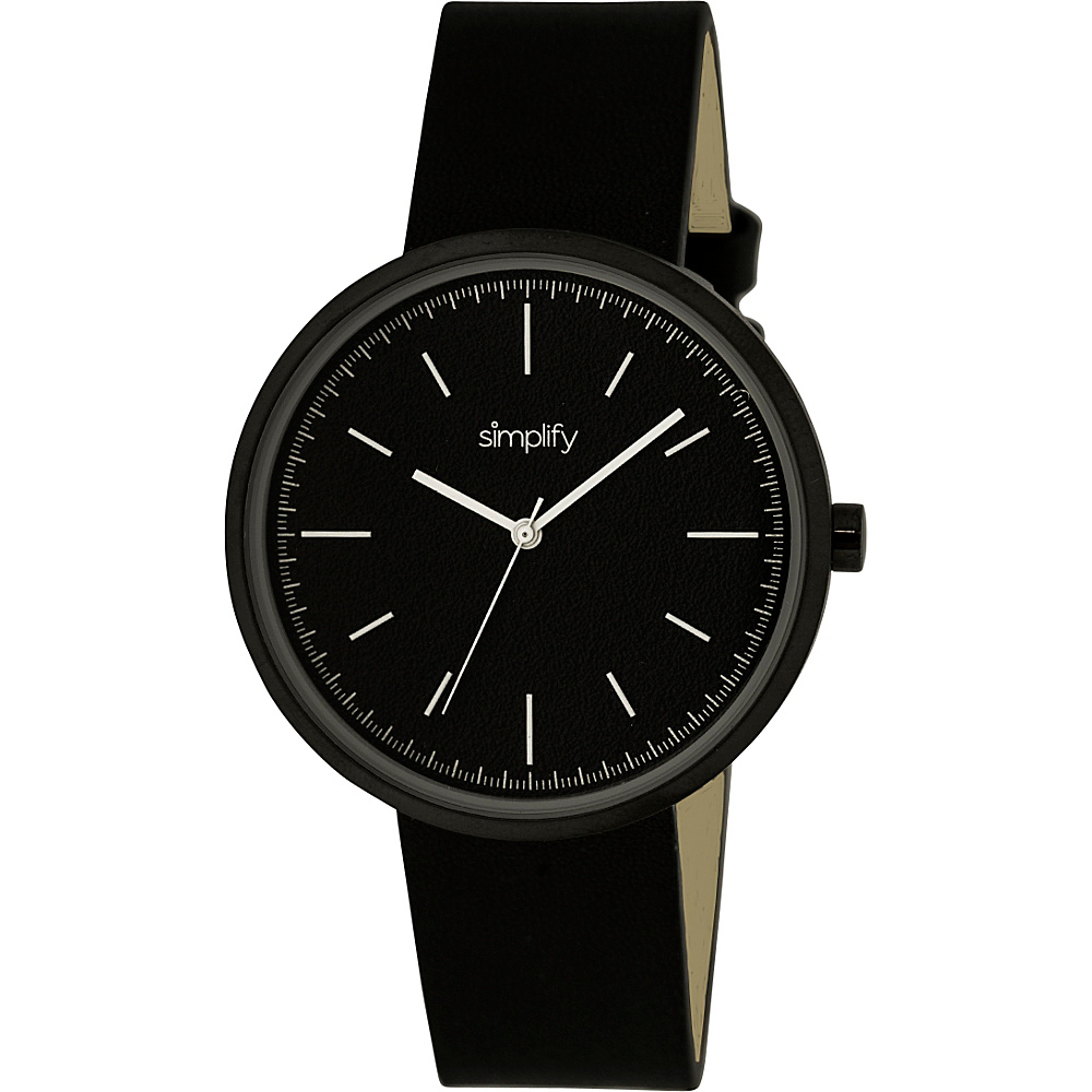 Simplify 3000 Unisex Watch Black Black Simplify Watches