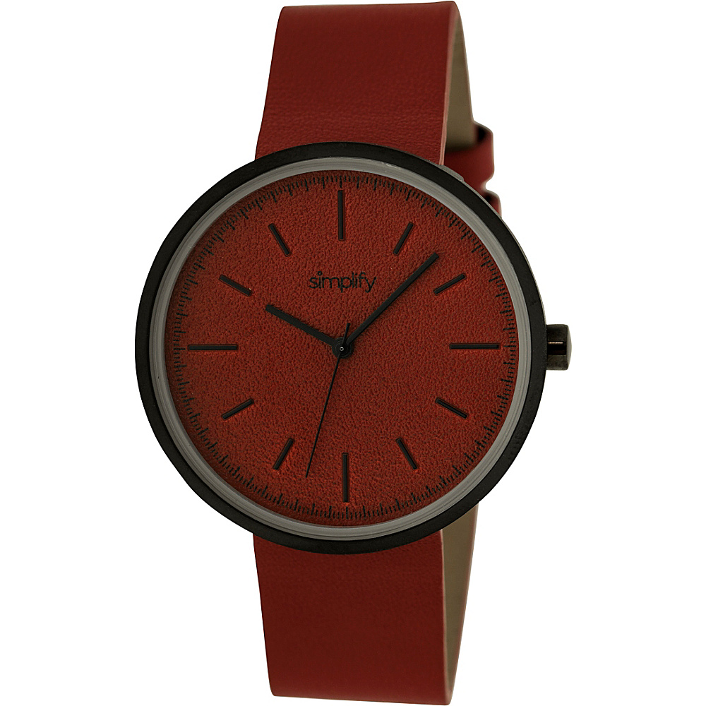 Simplify 3000 Unisex Watch Black Red Simplify Watches