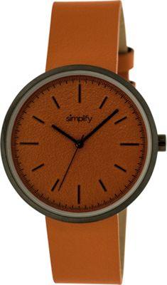 Simplify 3000 Unisex Watch Black/Orange - Simplify Watches
